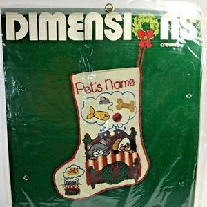 Dimensions~Crewel Embroidery Kit~8010~Pet Stocking